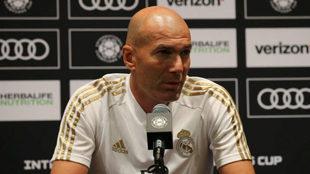 Zinedine Zidane, en la rueda de prensa.