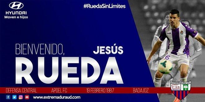 Imagen oficial con la que anuncia el Extremadura el fichaje.