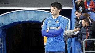 Shibasaki en su etapa con el Getafe