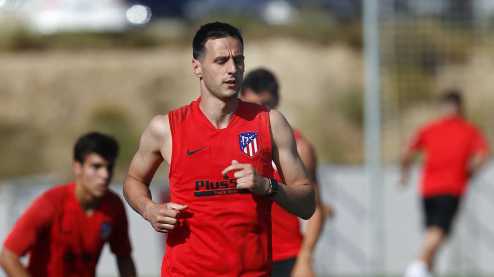 Kalinic during pre-season training with Atletico Madrid.
