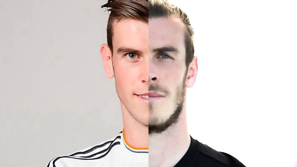 Bale, en un montaje entre 2013 y 2019