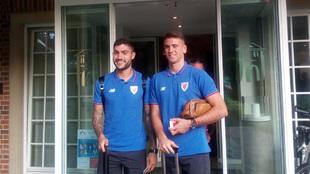 Unai Núñez y Simón, a su llegada al hotel de concentración