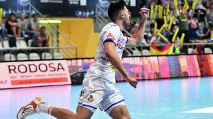 Adriá Martínez celebra un gol /