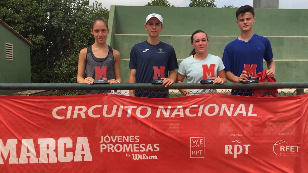 Campeones y finalistas del torneo MARCA Promesas del C.T. Sueca