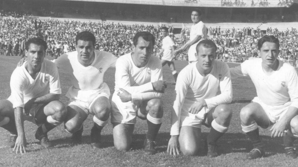 Olmedo,Joseito, Pahiño, Rpoque Olsen y Arsuaga, en un partido del...