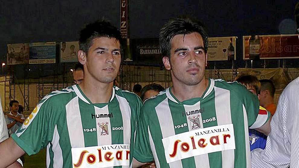 Jurado, junto a Nolito, en su etapa de jugador del Atlético...