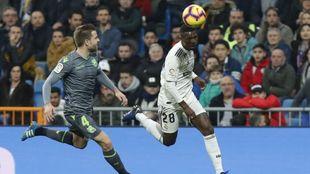 Illarramendi, en el partido de la pasada Liga contra el Real Madrid en...