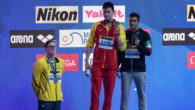 Horton rechazó subir al podio con el chino Sun Yang