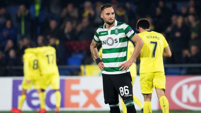 Nemanja Gudelj, en el partido del Sporting ante el Villarreal.