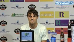 Fullana, en su presentación como jugador de la Ponferradina