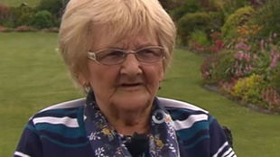Emily Scalon, durante la entrevista con la RTE irlandesa