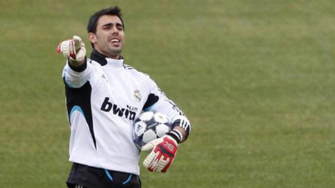 Jordi Codina, durante un entrenamiento con el Real Madrid