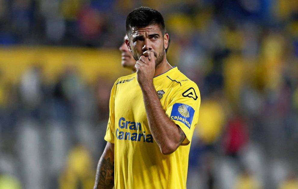 Aythami Artiles, durante un partido de Las Palmas