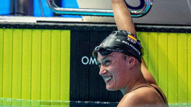 Mireia Belmonte, al término de la final de los 1.500 m