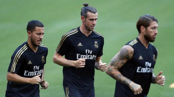 Bale, durante un entrenamiento de esta pretemporada.