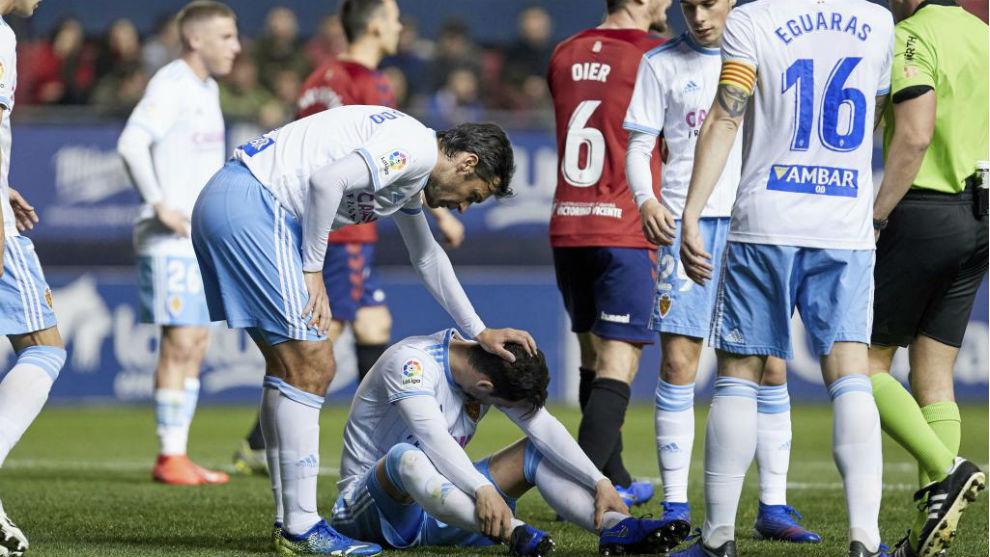 Las lesiones marcaron la temporada pasada del Real Zaragoza.