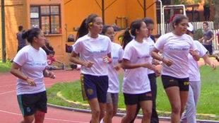 La selección mexicana femenil en preparación