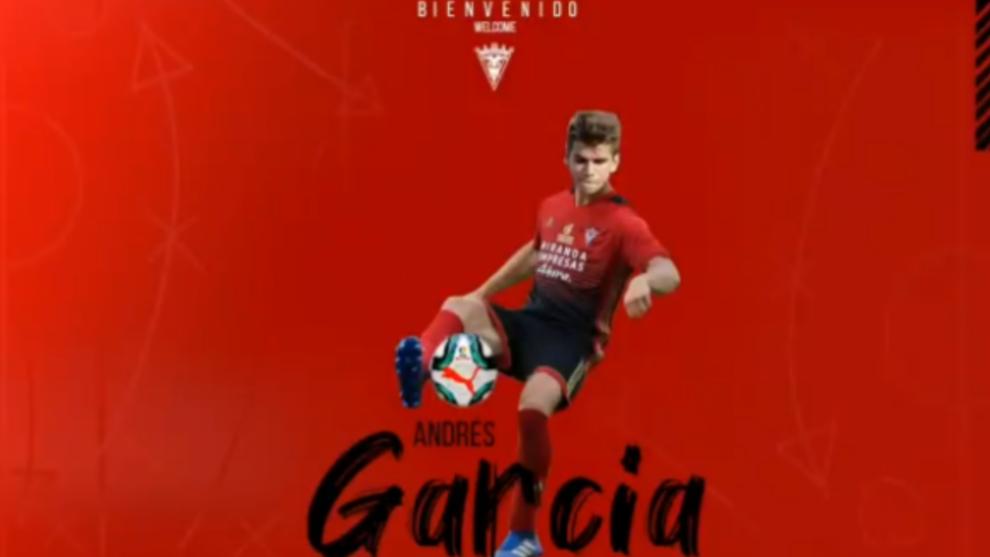 Andrés García anunciado como futbolista del Mirandés