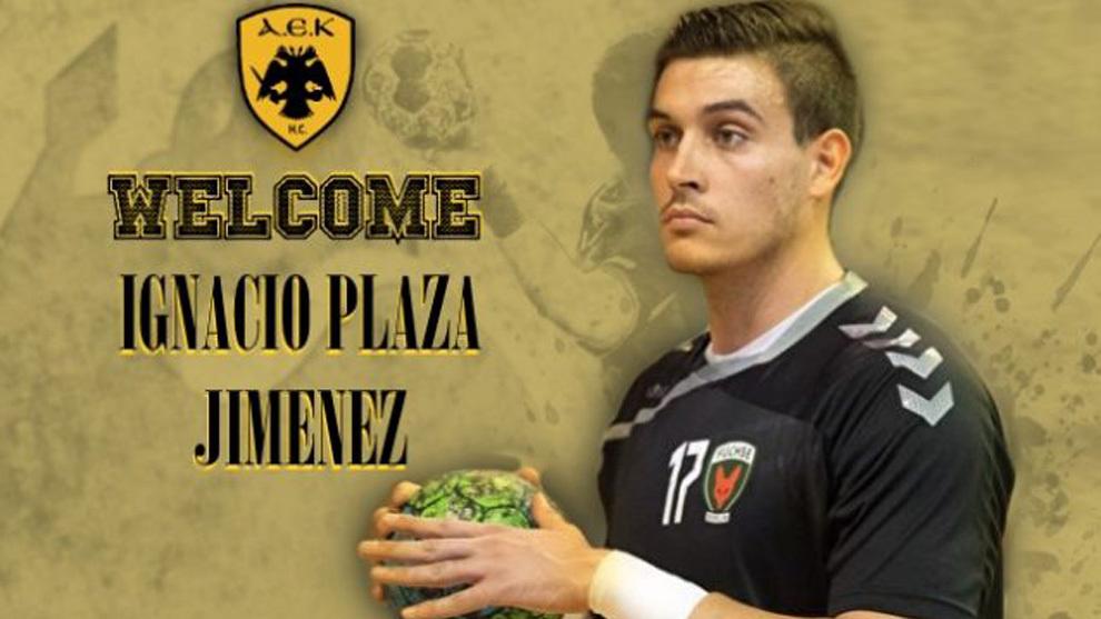 Cartel del fichaje del pivote español Nacho Plaza /