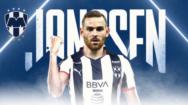 Vincent Janssen es nuevo futbolista de los Rayados del Monterrey.