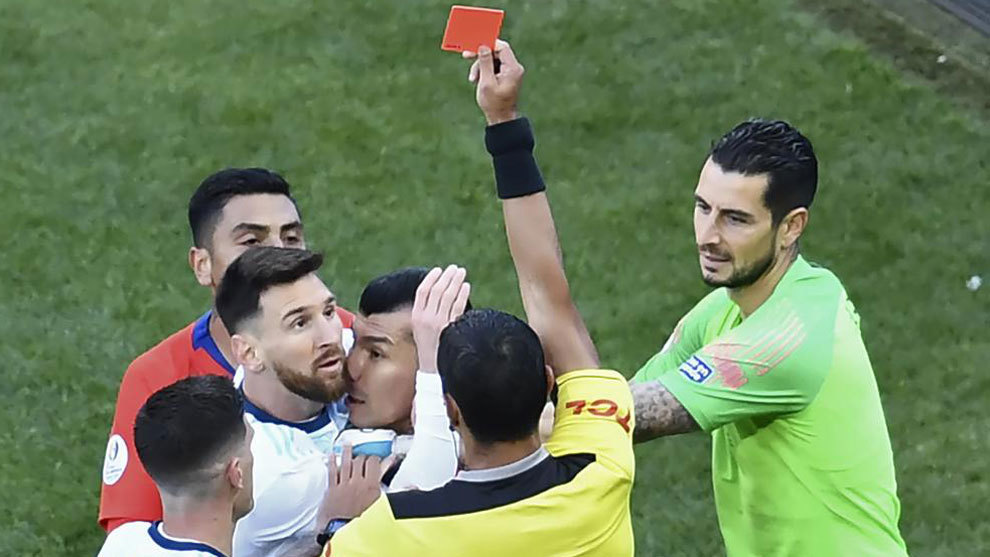 Messi gets WC qualifier ban for Copa red card