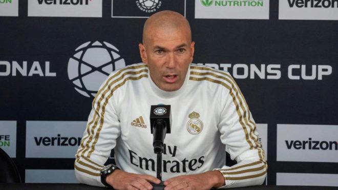 Zinedine Zidane, durante la rueda de prensa.