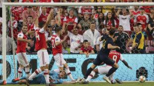 Bale marca el primer gol del Madrid ante el Arsenal