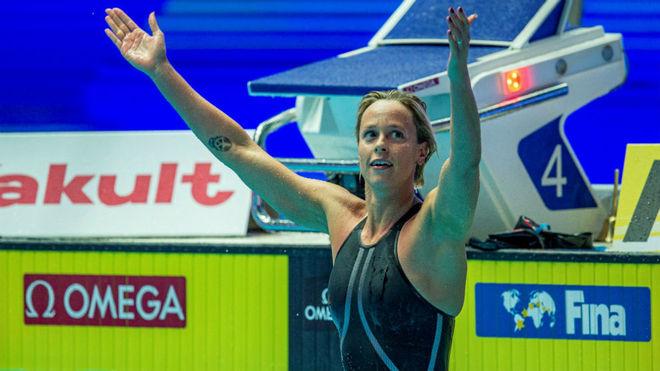 Federica Pellegrini, tras lograr el triunfo en los 200 libre