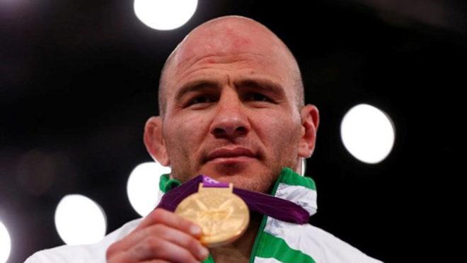 El luchador Artur Taymazov, oro en Londres 2012.