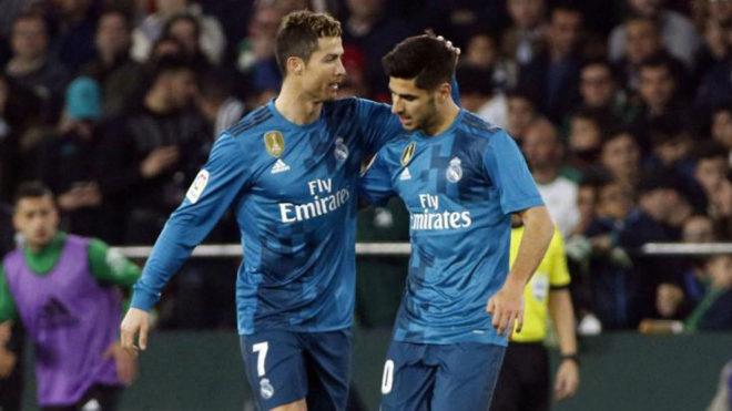 Cristiano y Asensio, con el Real Madrid.