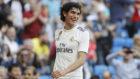 Vallejo, tras marcar un gol con el Madrid la temporada pasada