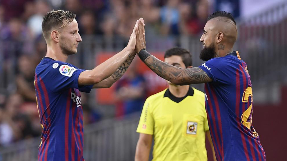 Rakitic and Arturo Vidal.