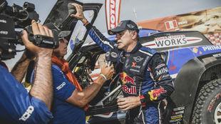 Sainz, con el Mini, en la edición de este año del Dakar.