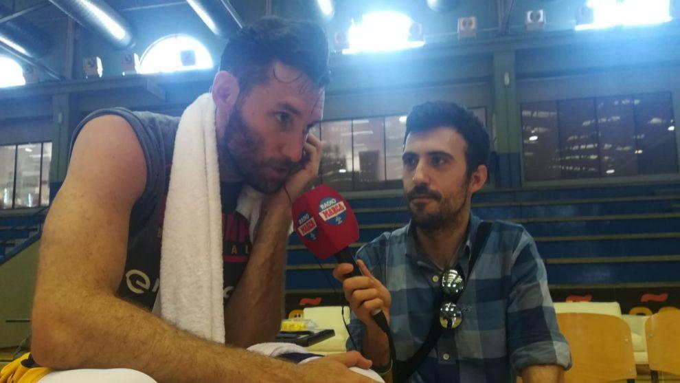 Rudy Fernández con Carlos Santos