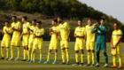 Los jugadores del Villarreal en un partido de pretemporada