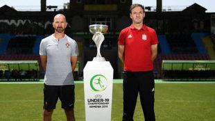 Filipe Ramos y Santi Denia, seleccionadores de Portugal y España sub...