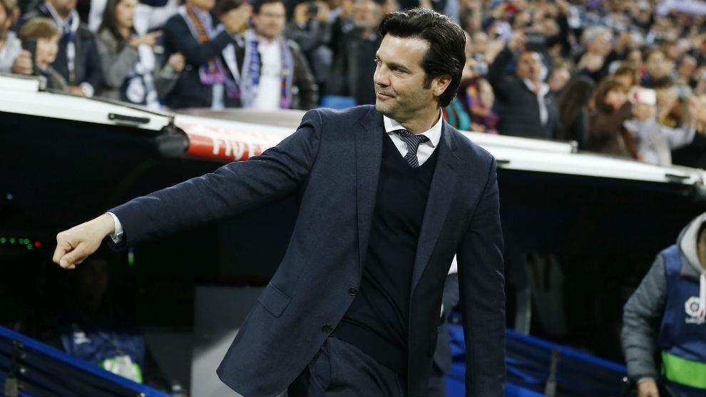 Solari, durante un partido con el Madrid.