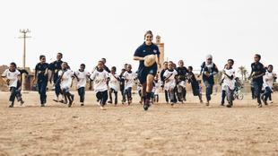 Patricia García, durante la etapa de Rugby Libre en Marruecos