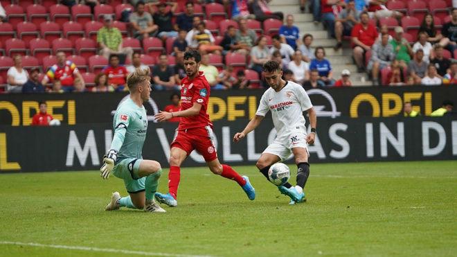 Munir anota el tercer gol del partido ante el Mainz.
