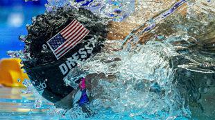 Caeleb Dressel, durante la final de los 100 m mariposa