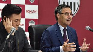 Hiroshi Mikitani y Josep Maria Bartomeu.