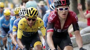 Egan durante la etapa 20 del Tour.