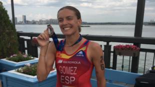 Tamara Gómez, con la medalla de bronce