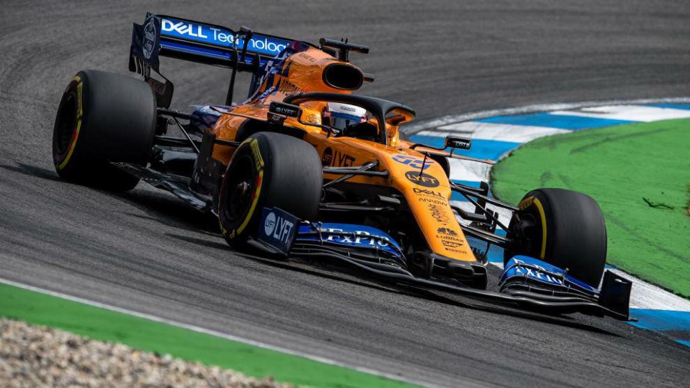 Carlos Sainz, ayer durante la calificación en Hockenheim