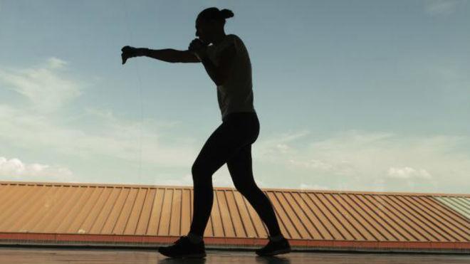 Joana Pastrana durante uno de sus entrenamientos en Madrid.
