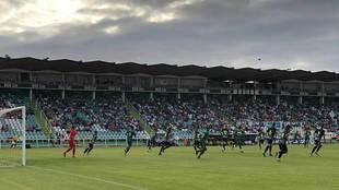 Una imagen del partido disputado en tierras lusas