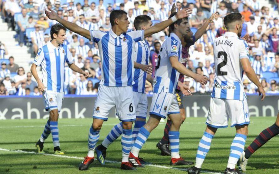 Hector Moreno playing for Real Sociedad.