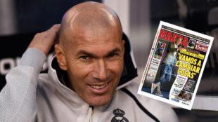 Zinedine Zidane, antes del partido ante el Atlético.