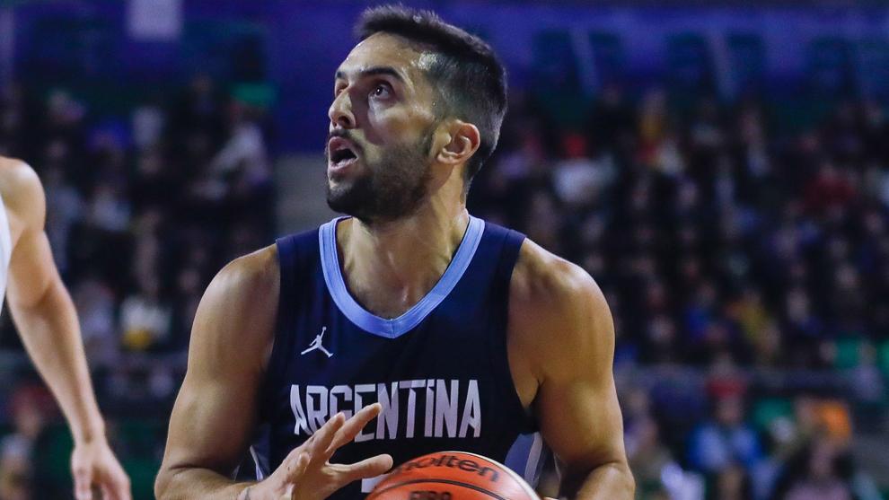 Campazzo, con la selección argentina
