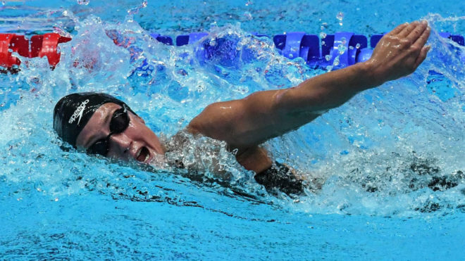Mireia Belmonte, en una de las pruebas que nadó en el Mundial.